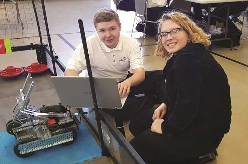 COURTESY: SHERIE MORAN - North Marion High School students Evan Price, left, and Corrina Corp have been selected to take part in a national SkillsUSA leadership program held in Louisville, Kentucky later this month.