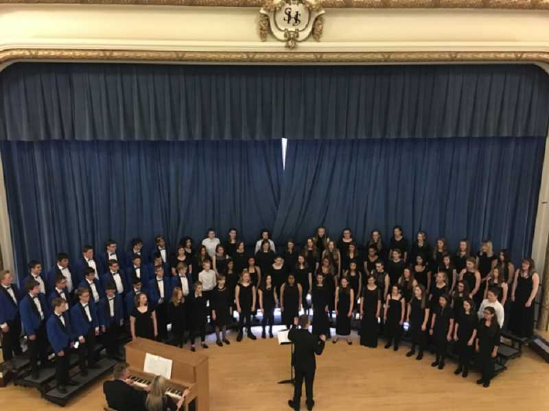 COURTESY PHOTO: JORDAN PAULUS - Baker Prairie's Eagle Choir performs at Stadium High School in Seattle on May 31 to June 1.