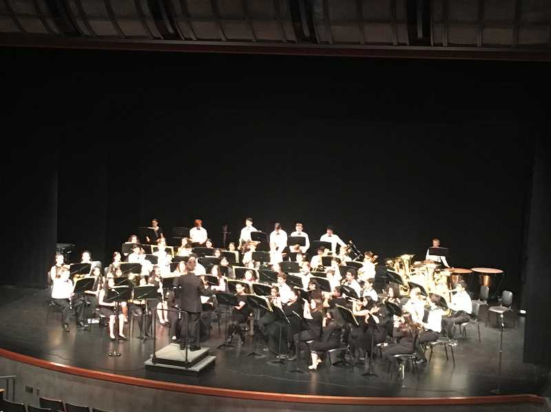 COURTESY PHOTO: JORDAN PAULUS - Baker Prairie's advanced band performs at Stadium High School in Seattle on May 31 to June 1.