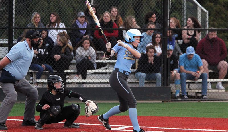 PMG PHOTO: MILES VANCE - Lakeridge junior first baseman Summer Mickey won a berth on the all-Three Rivers League first team after batting .411 during the 2019 season.