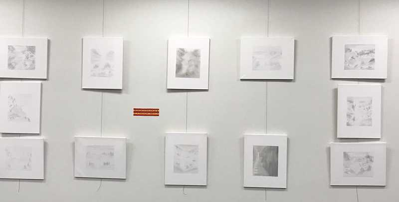 PMG PHOTOS: COREY BUCHANAN - Wilsonville resident Woody Wrymanns exhibit at the Wilsonville Library features pencil sketches.