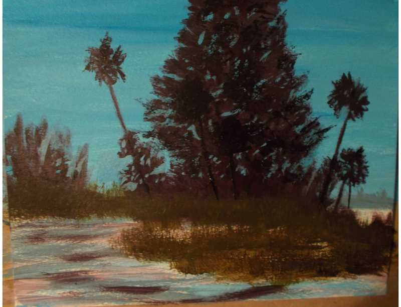 Woody Wrymann does a variety of other art that isnt shown in the exhibit including some using acrylic paints.
