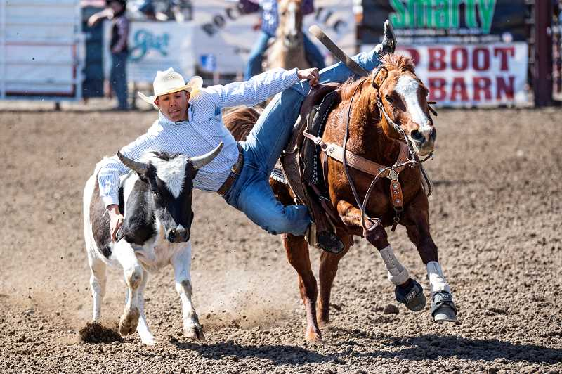 LON AUSTIN - Coy Aldrich, of Culver, is the state champion in the reined cow horse competition.