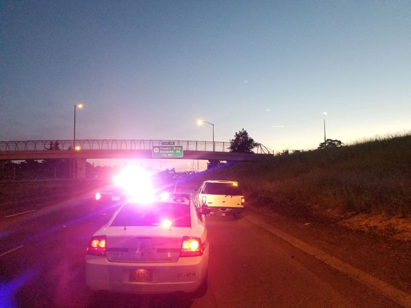 VIA CCSO - A traffic stop in Damascus sparked a pursuit that ended on northbound Interstate 205 after Clackamas County Sheriff's deputies deployed spike strips.