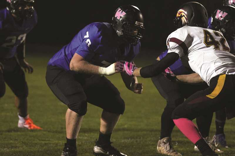 PMG PHOTO: PHIL HAWKINS - Offensive lineman Jacob Hesse will play for the Willamette Bearcats in the fall.