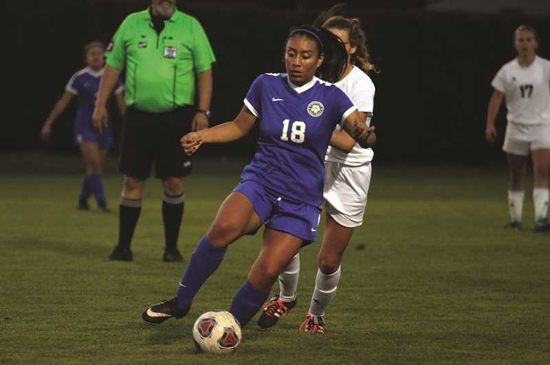 PMG PHOTO: PHIL HAWKINS - Miriam Barbosa (pictured) and Nathalie Rios will play for Chemeketa Community College this fall.