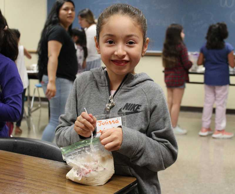 PMG PHOTO: OLIVIA SINGER - STEM classes through summer camps by Adelante Mujeres encourage young female students to learn more about possible fields of study for their future.