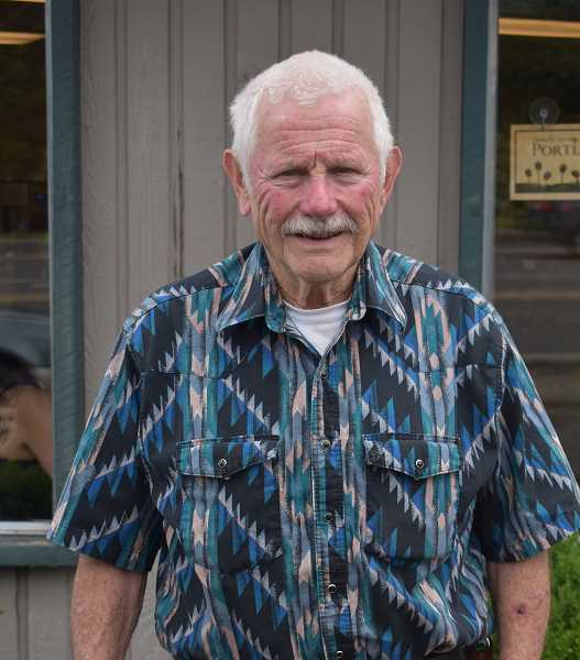 PMG PHOTO: EMILY LINDSTRAND - Bob Akins retired from the Estacada Cemetery Maintenance Board earlier this month. He had been a member of the group since 1973.