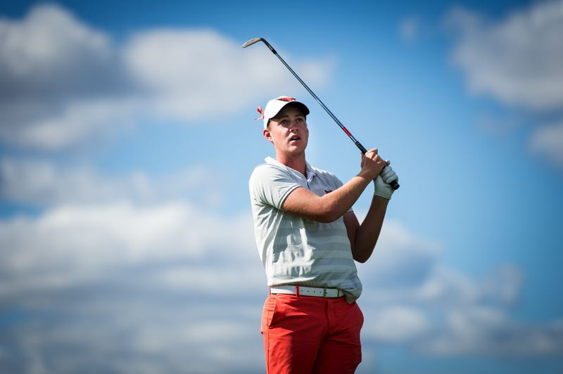COURTESY PHOTO: OREGON STATE UNIVERSITY - Spencer Tibbits of Oregon State tees it up in the U.S. Open this week, playing a Pebble Beach course with the 'hardest set-up in the world. '