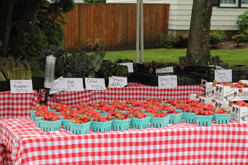PMG PHOTO: HOLLY BARTHOLOMEW - One of the markets most popular items is fresh, local strawberries.