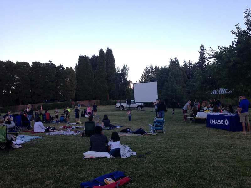 Free popcorn is provided for the movies, plus pre-movie events like lawn games, face painting and more.