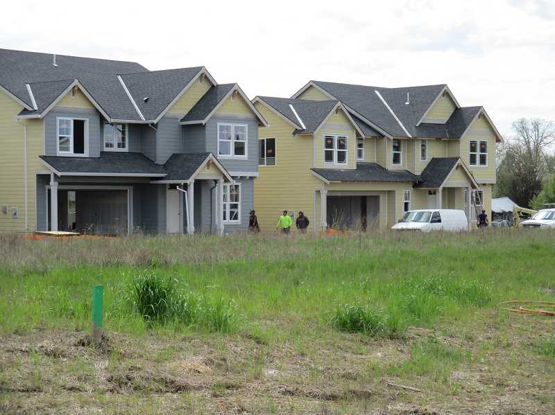 PMG PHOTO: DEBORAH GUINTHER - Pictured are some of the new houses going up.