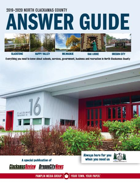 (Image is Clickable Link) North Clackamas County Answer Guide 2019 - 2020