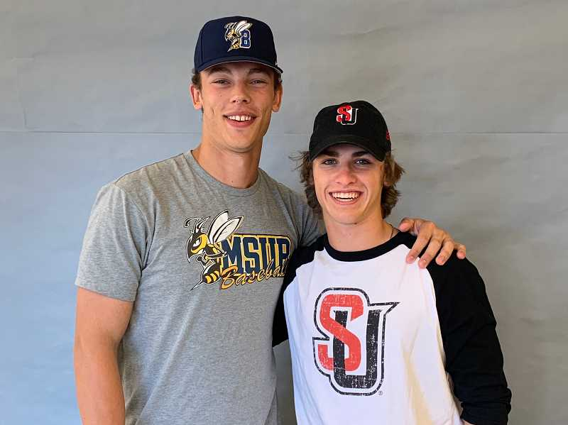 COURTESY PHOTO: BRYN CARD - Graduated seniors Nolan Thebiay (left) and Trevor Antonson (right) both signed letters of intent to compete in college.