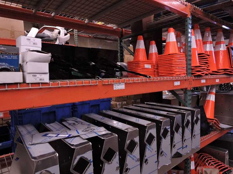 COURTESY OF FLEET SALES WEST - Rearranging and organizing inventory was among the steps taken by Fleet Sales West in a collective effort that included Oregon Manufacturing Extension Partnership, working to fine-tune production and keep the company in Woodburn.