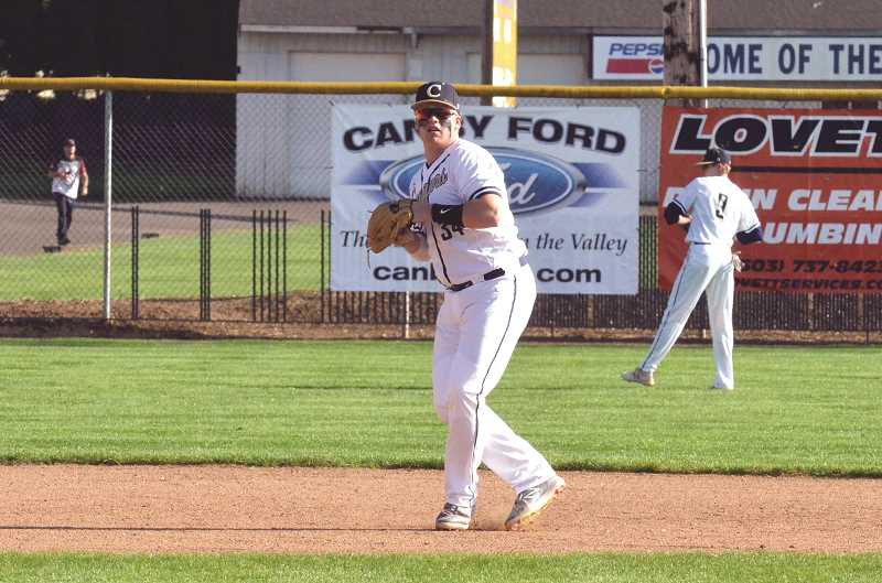 PMG FILE PHOTO: TANNER RUSS - Junior Cayden Delozier was named a first team all-league infielder.