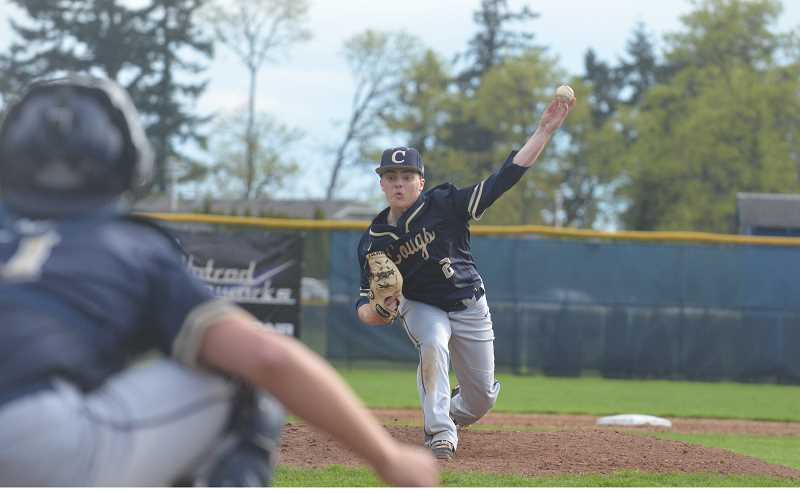 PMG FILE PHOTO: TANNER RUSS - Senior Sean Wiese was named a second team all-league pitcher for his work from the mound.