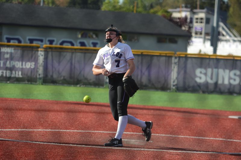 TIMES FILE PHOTO - Sunset junior right-hander Grace Kimball was picked Metro League Pitcher of the Year this season.