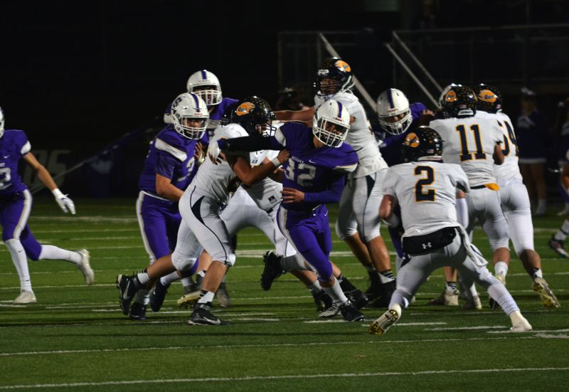 TIMES FILE PHOTO - Sunset senior Kadin Williams was a two-way force for the Apollos and will represent Sunset at the Les Schwab Bowl.