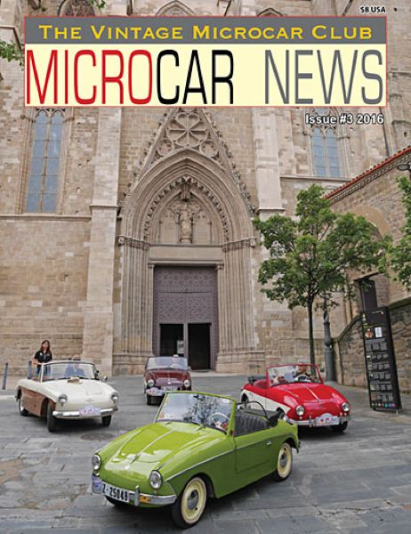 CONTRIBUTED - The 15th Great Pacific Northwest Microcar & Minicar Extravaganza will be held from Friday to Sunday, June 14 to 16, at McMenamins Grand Lodge, 3505 Pacific Ave., Forest Grove. The cover of this issue of Microcar News shows the kinds of cars that will be there.