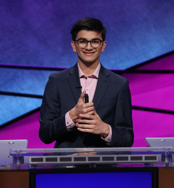 COURTESY: JEOPARDY PRODUCTIONS, INC. - Catlin Gabel School senior Avi Gupta is competing on 'Jeopardy!' Teen Tournament.
