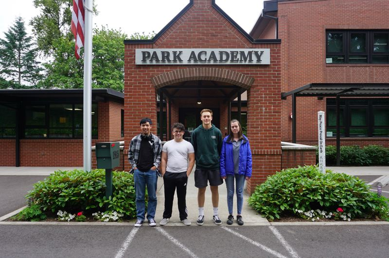 PMG PHOTO: CLAIRE HOLLEY - Park Academy class of 2019. From left: Kurt Janson, Zachary Farris, Tyler Anderson and Nadya Shirley.