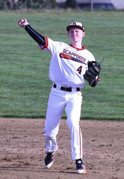COURTESY PHOTO: SCAPPOOSE BASEBALL - Jordan Buchanan, a senior at Scappoose High, made the all-Northwest Oregon Conference first team this year as a senior infielder.