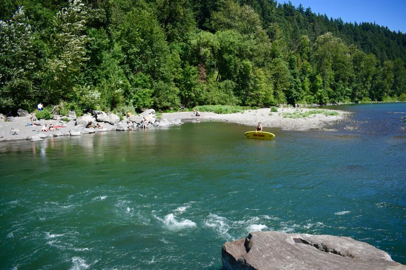 PMG FILE PHOTO: MATT DEBOW - About one person died each year in this Troutdale section of the Sandy River before American Medical Response lifeguards started patrolling the river in 1999.