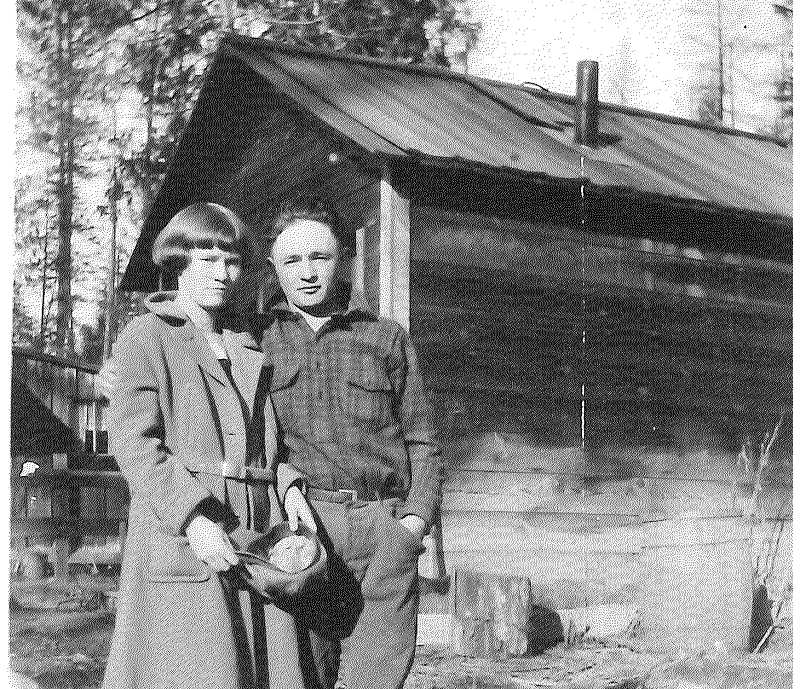 PHOTO SUBMITTED BY RON RHODEN - Ward and Kathleen Rhoden pose for a photo that was taken in 1924. At the time, Rhoden was living in Bend and working at Shevlin Hixon Sawmill. The family would later move to Prineville, where Rhoden would run the Pine Products sawmill.