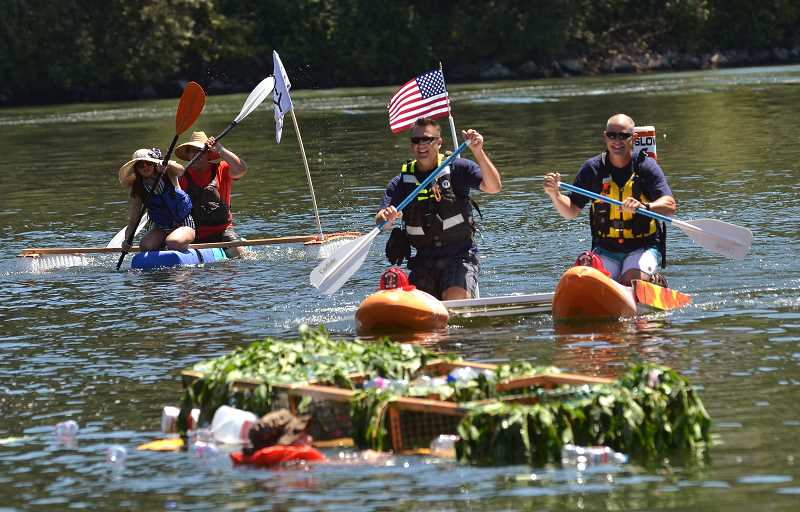 PMG FILE PHOTO - The Recycle Regatta has made a splash at the Old Time Fair for the past two years.