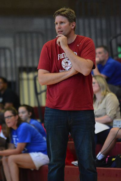 PMG PHOTO: DAVID BALL - Dave Brown spent last season as an assistant coach at Mt. Hood Community College where the Saints turned in a 20-win season.