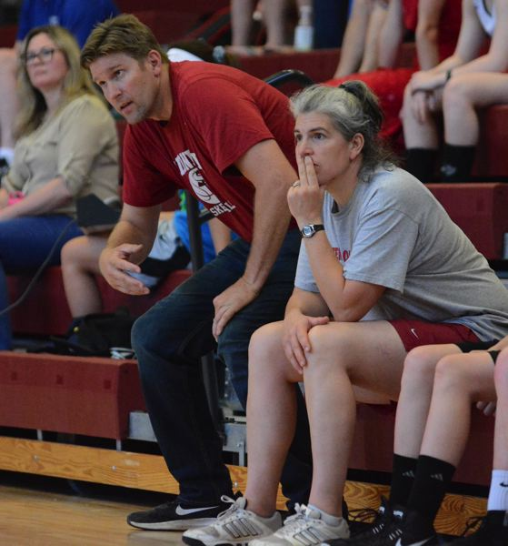 PMG PHOTO: DAVID BALL - Dave Brown and former Sandy player and coach Renae (Aschoff) Gregg are leading the Pioneers through the summer league season.