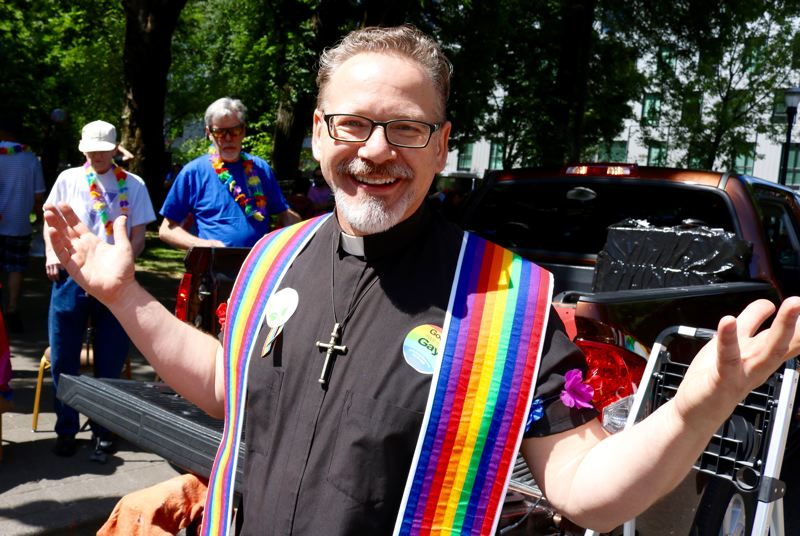 PMG PHOTO: ZANE SPARLING - Rev. Nathan Meckley is a pastor with the Metropolitian Community Church, which marches in Pride Parade every year.