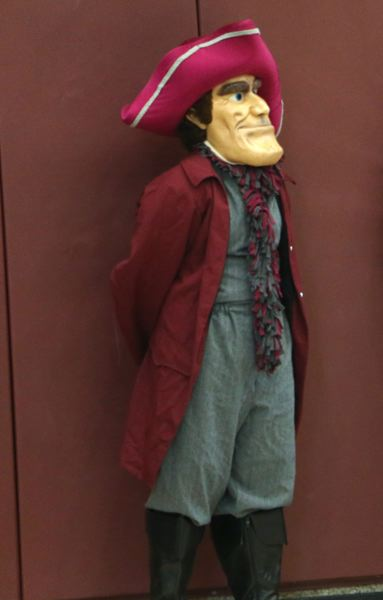 PPS PHOTO - A Quaker mascot, shown here at a Franklin High School event in 2018, will soon be replaced, following a vote by the Portland Public Schools board.