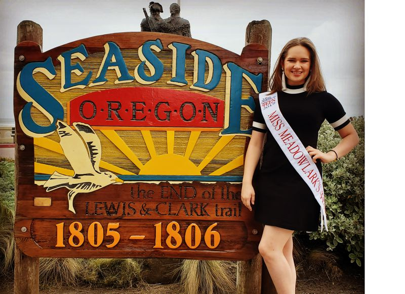 SUBMITTED PHOTO - Deja Fitzwater, 14, hopes to turn her Miss Meadowlark's Outstanding Teen title into a state title in the upcoming Miss Oregon and Miss Oregons Outstanding Teen Pageant in Seaside on June 29.