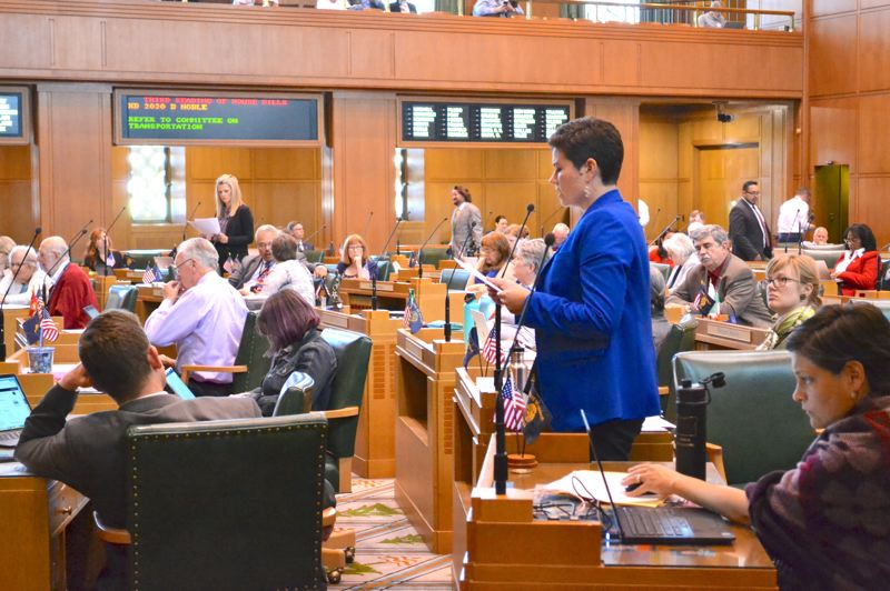 OREGON CAPITAL BUREAU: CLAIRE WITHYCOMBE - State Rep. Karin Power, a Milwaukie Democrat, led the way in the floor debate on the state's proposed cap-and-trade legislation. The controversial bill goes to the Senate for a hearing.