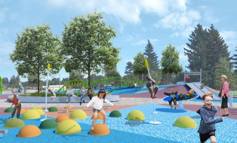 COURTESY RENDERING - Lynchview Park will have a cool new playground once construction is finished.
