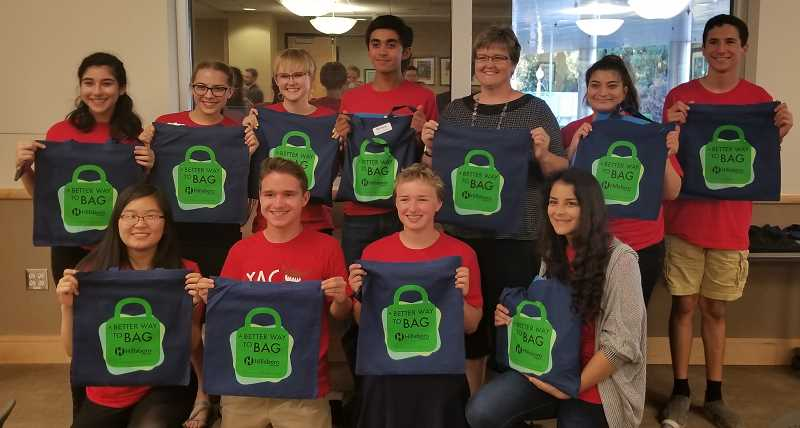 COURTESY PHOTO - Hillsboro state Rep. Janeen Sollman, top, spearheaded the Hillsboro Youth Advisory Councils ban on plastic bags, expanding the idea to a statewide ban, which legislators approved this month.