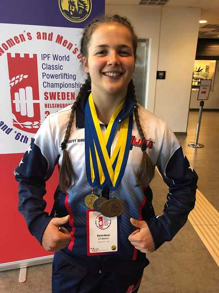 COURTESY PHOTO: CHRISTINE EHRICH - Canby junior Havvy Ehrich claimed bronze at the world championships in Sweden.