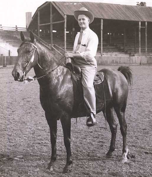 COURTESY PHOTO: MOLALLA AREA HISTORICAL SOCIETY - Fred M. Henriksen was President of the Molalla Buckeroo Rodeo Association in 1938.
