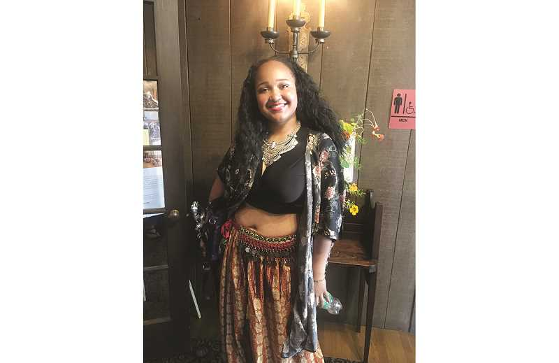 SUBITTED PHOTO - Idalis Ibrahim at the 2019 Belly Dancer of the Year competition in Berkley, California. She is a dancer for the Akasma Dance Troupe at Stanford University.