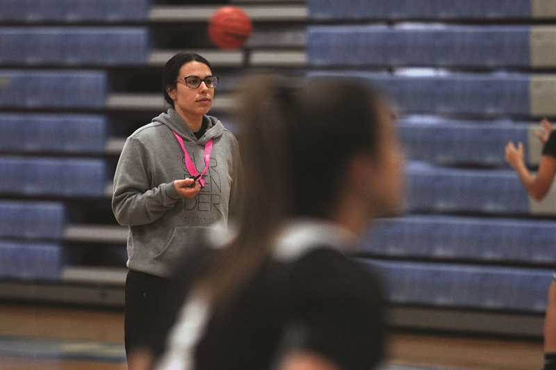 PMG PHOTO: PHIL HAWKINS - Woodburn head coach Taylor Belmont enters her second year in the program, looking to develop the Bulldogs into a team that is willing to outwork opponents on every possession.