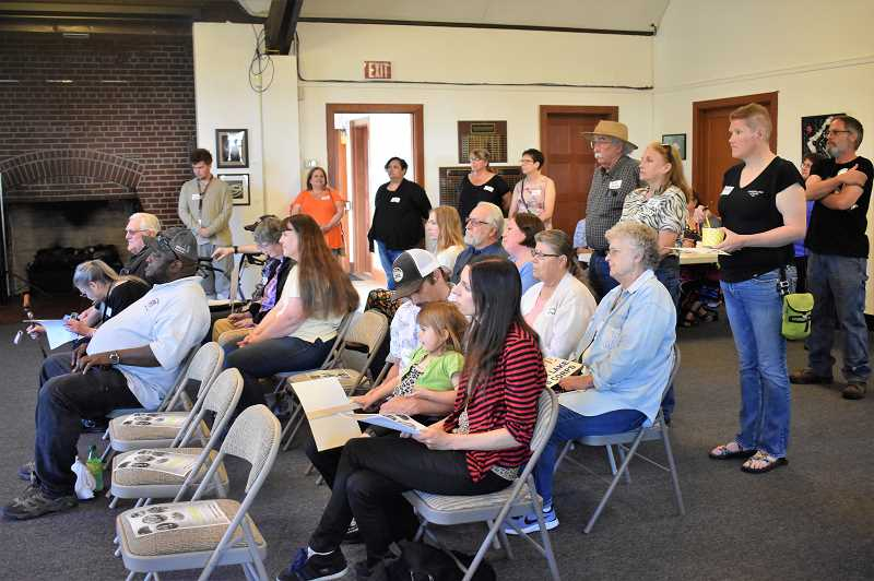 PMG PHOTO: EMILY LINDSTRAND - Many Estacada residents attended a town hall meeting in support of Timber Lake Job Corps on Tuesday, June 18.