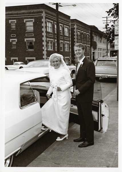 COURTESY PHOTO  - Rob and Jan Goodwin of Lake Oswego are celebrating their 50th wedding anniversary June 21, 2019. They were married June 21, 1969 at Trinity Episcopal Church in Portland. This picture was taken on their wedding day. Congratulations to the couple!