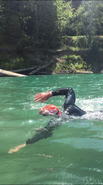 COURTESY: DEAN HALL - Dean Hall, who swam 75 miles of California's Eel River, has committed to a life of 'adventure environmentalism.'