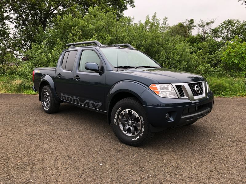 PMG PHOTO: JEFF ZURSCHMEIDE - The 2019 Nissan Frontier can be ordered in a wide range of styles, from stripped down but strong to heavy-dury four-wheel-drive and luxury levels.