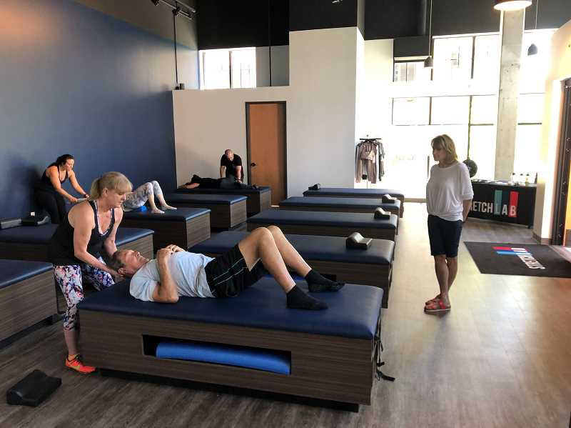 PHOTO COURTESY OF ADAM HAVENS - StretchLab offers 25-50 minute sessions where a trained flexoligist will create a customized series of streches to help you achieve your flexibility and fitness goals.
