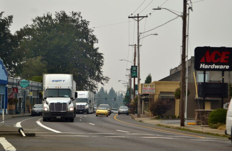 PMG FILE PHOTO - Traffic through Sandy reaches a daily average of more than 30,000 vehicles and in 2018 researchers at Portland State University and Clackamas County projected that by 2034 Sandy could be home to 18,980 people.