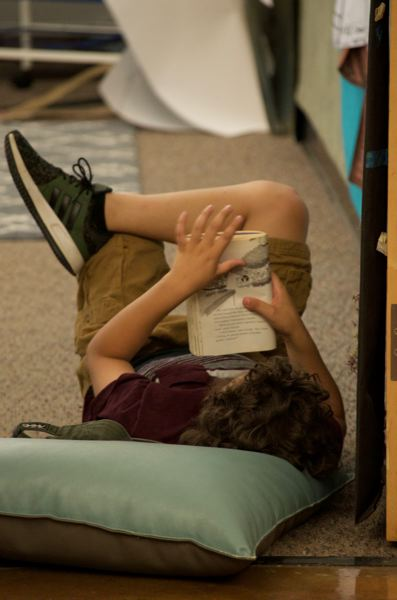 PMG PHOTO: CLARA HOWELL  - Students separate into different classrooms to work on their reading skills.
