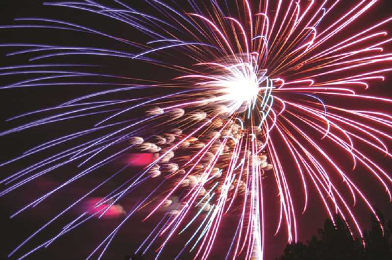PMG FILE PHOTO - Officials recommend people take in community fireworks displays as they are safe, legal and designed for everyone to enjoy.